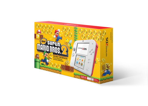 On Aug. 25, a sleek white-and-red Nintendo 2DS system with the New Super Mario Bros. 2 game pre-inst ...