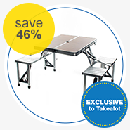 Campground 												Megacamp 												Aluminium Folding Table  												with Chairs Set