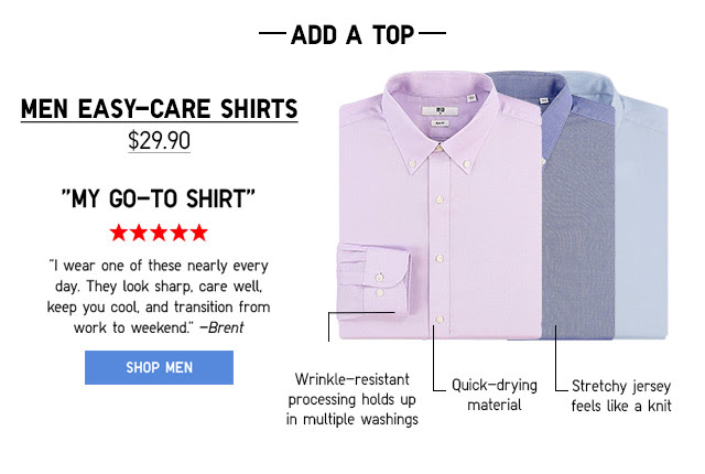 MEN EASY-CARE SHIRTS - SHOP NOW