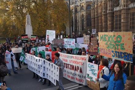 Londres en apoyo a Ayotzinapa