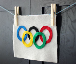 DIY Olympic Flag Craft + save.