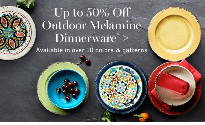 Up to 50% Off Outdoor Melamine Dinnerware*
