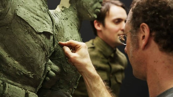 Sabin Howard sculpting soldier 1
