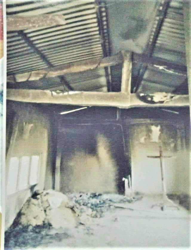 Kanchanpur Emmanuel Church building in midwest hilly region of Nepal was set ablaze on May 11. (Morning Star News)