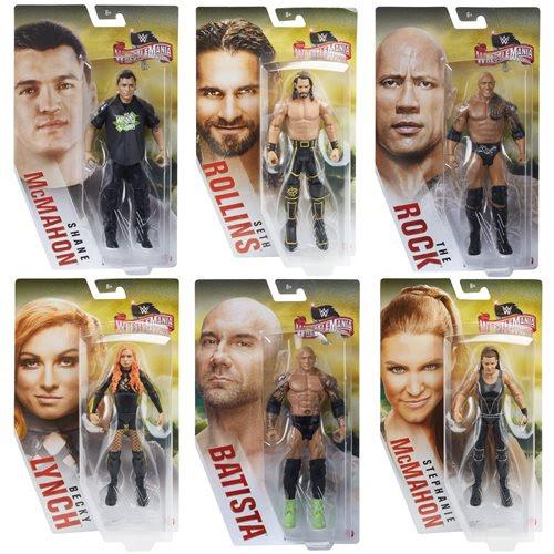 Image of WWE Wrestlemania Basic Action Figure Series - Set of 6