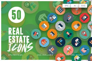 50 Real Estate Icons