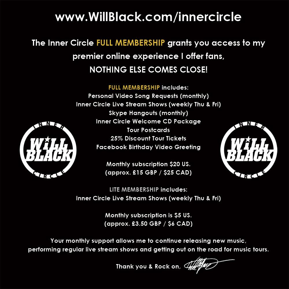 Inner Circle Membership details