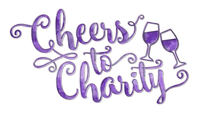 Cellar XV's Cheers to Charity purple logo