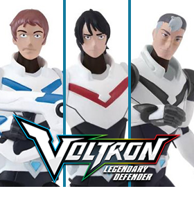 VOLTRON: THE LEGENDARY DEFENDER PILOT FIGURES