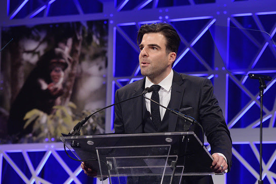 Zachery Quinto Speaks At HSUS To The Rescue! New York Gala