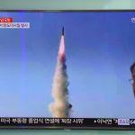 Le 22 mai 2017, la Corée du Nord a procédé à un test de missile à portée intermédiaire Pukguksong-2. (Crédits : AFP PHOTO / JUNG Yeon-Je)