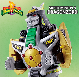 MIGHTY MORPHIN POWER RANGERS SUPER MINI-PLA DRAGONZORD