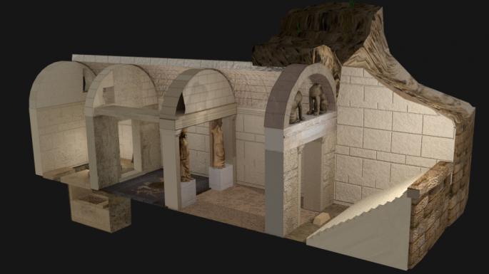 Ψηφιακή απεικόνιση του ταφικού μνημείου