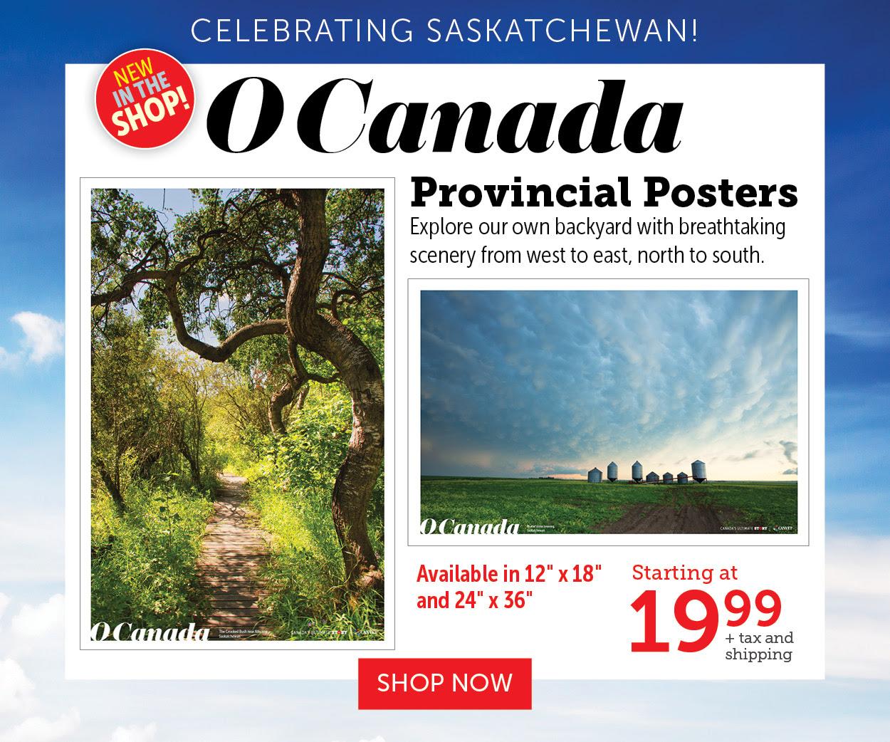 O Canada Provincial Posters