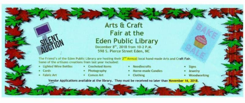 Eden Library Arts & Crafts Fair