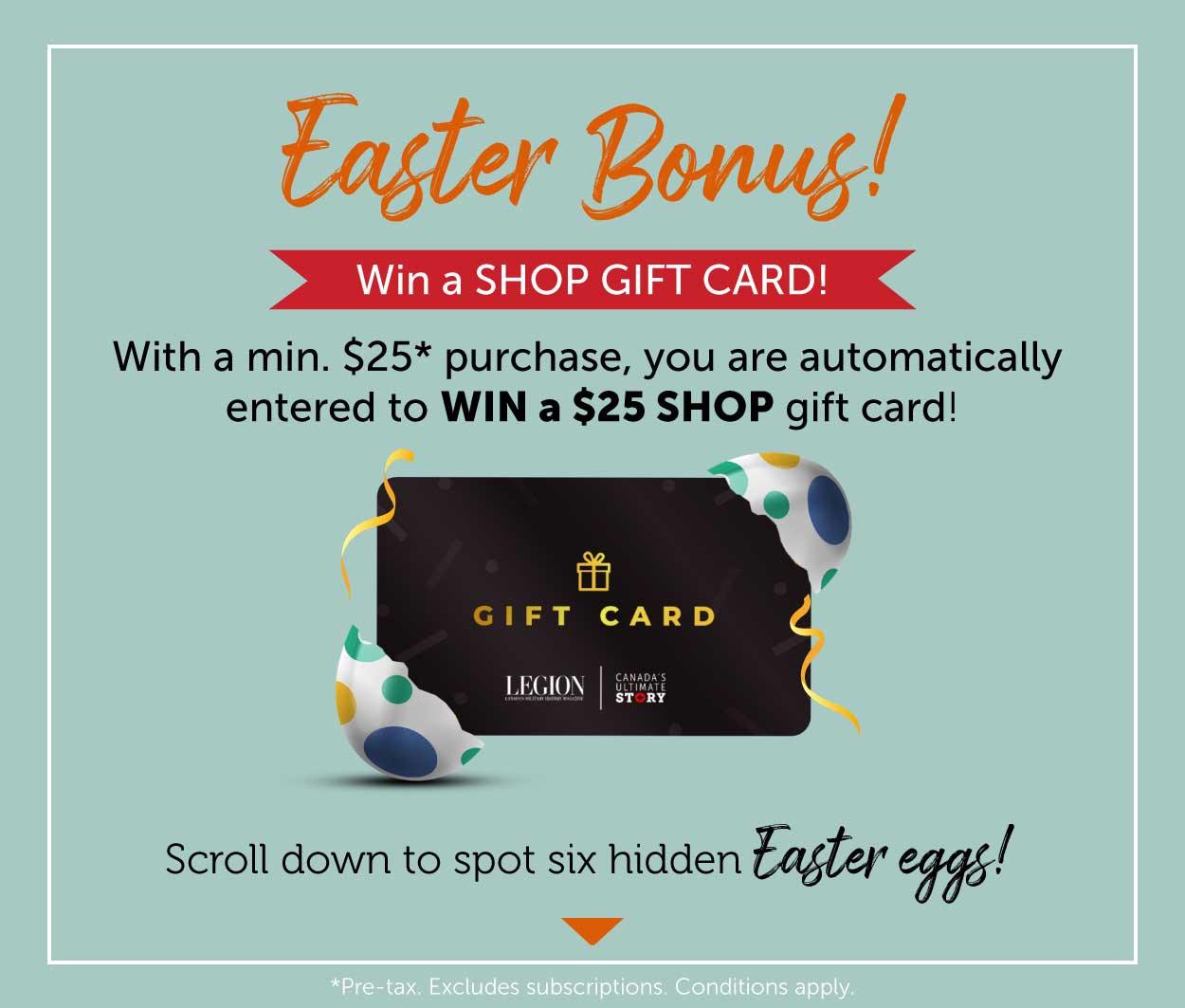 Pre-Easter BONUS! Win a GIFT CARD!