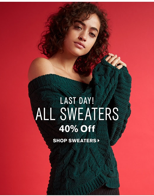 Shop 40% off Sweaters