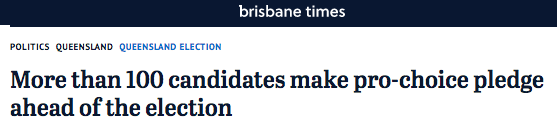 Brisbane Times coverage of polling
