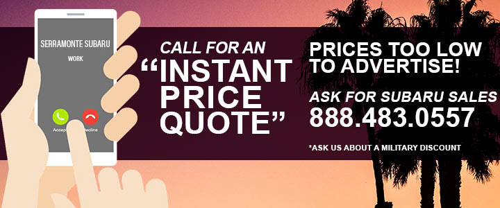 Some prices too low to quote CALL FOR AN INSTANT PRICE QUOTE ASK FOR SUBARU SALES 888-483-0557
