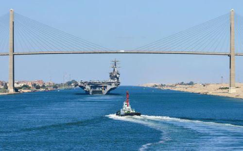 Bridge on Suez canal
