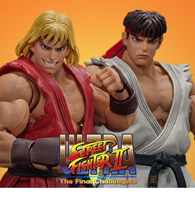 STREET FIGHTER II RYU & KEN 1/12 SCALE FIGURES