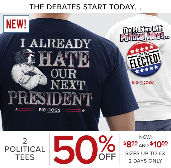 50% OFF Political Statement Te...