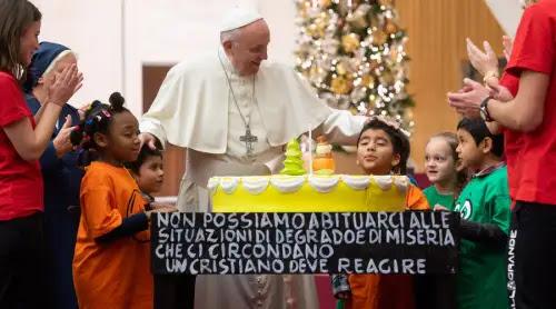 Así fue la fiesta anticipada de cumpleaños del Papa Francisco [FOTOS]