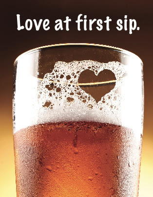 Valentine`s Day + Beer = Love.