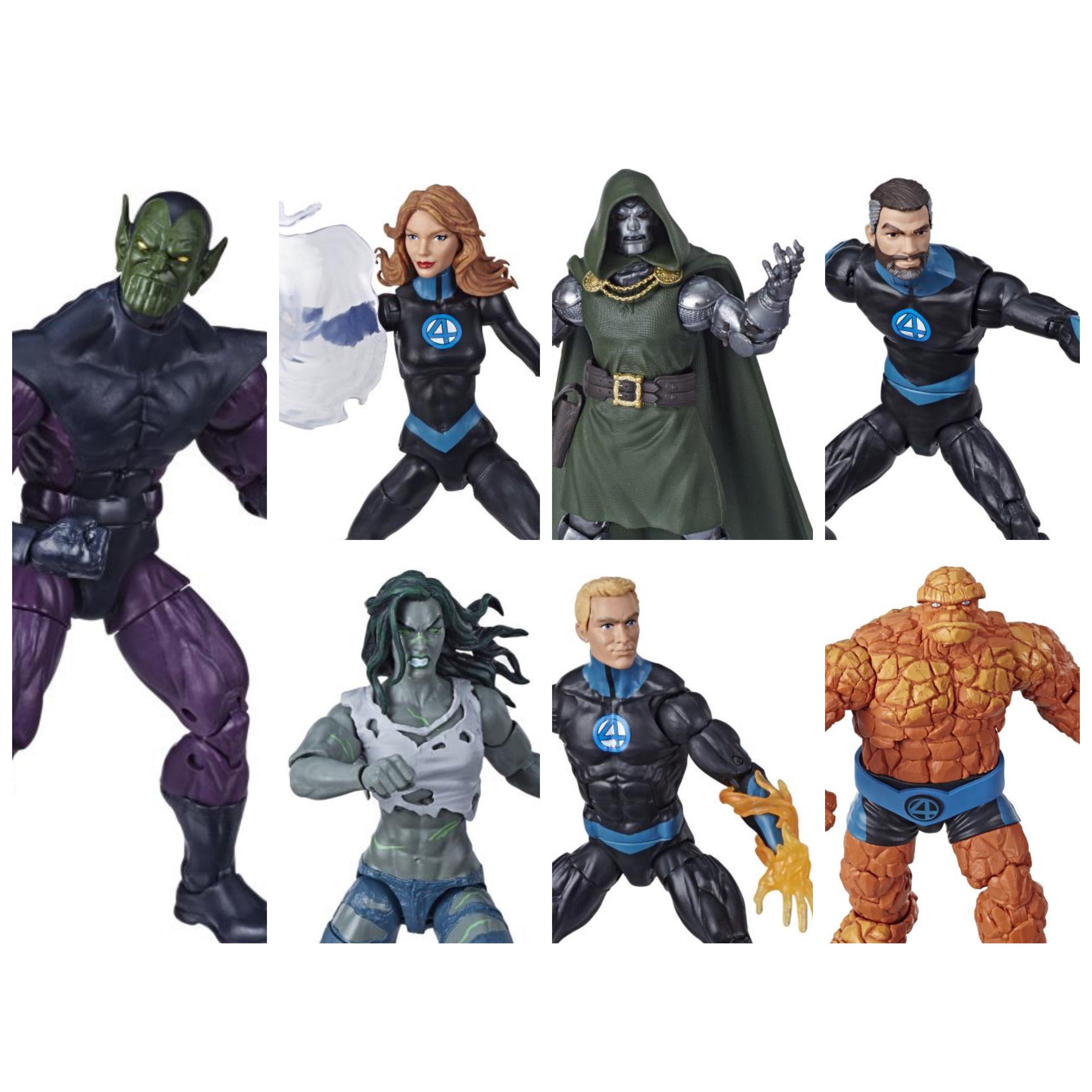 Image of Fantastic Four Marvel Legends 6-Inch Action Figures (BAF Super Skrull) - Set of 6
