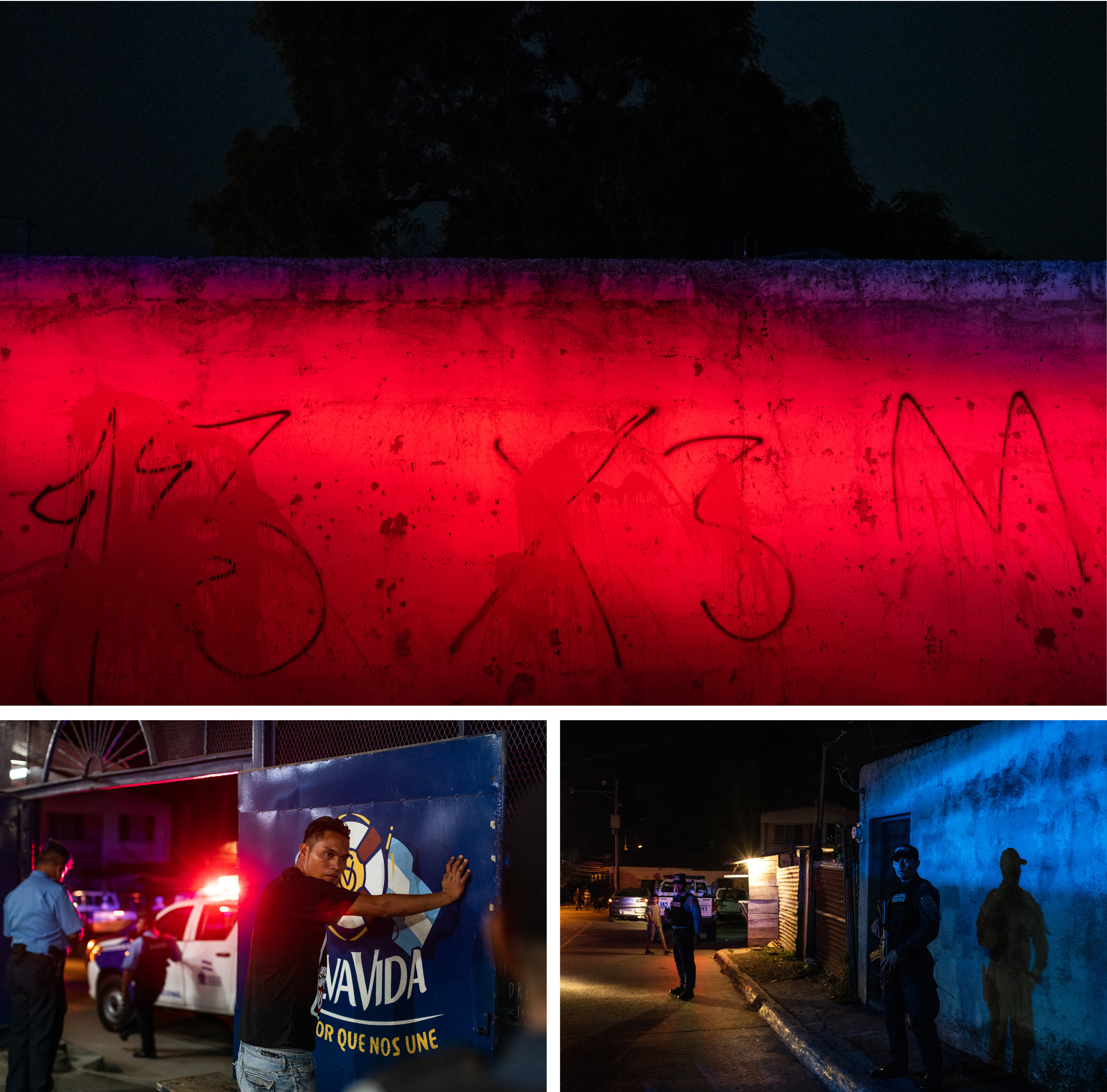 Gang grafitti and policing in Honduras.