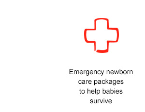 Emergency newborn  care packages to help babies survive