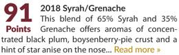 2018 Syrah/Grenache - 91 Points