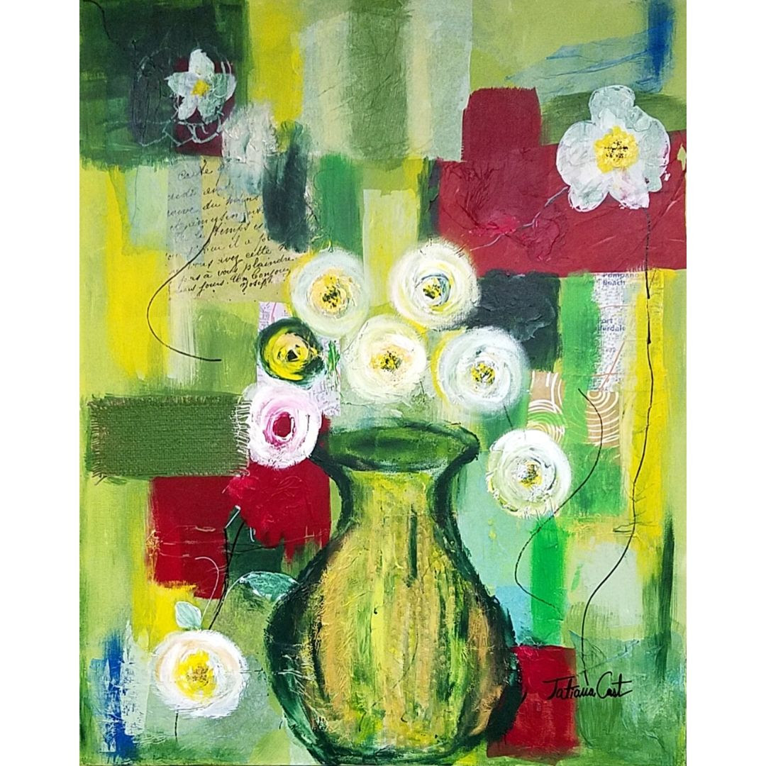 'Green Bouquet' Original Painting