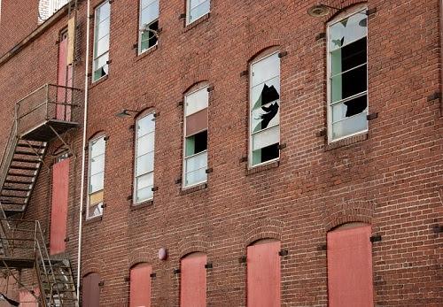 Vandalized warehouse