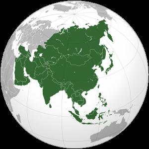 Ubicación de Asia