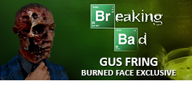 "BREAKING BAD 6"" GUS FRING BURNED FACE EXCLUSIVE"