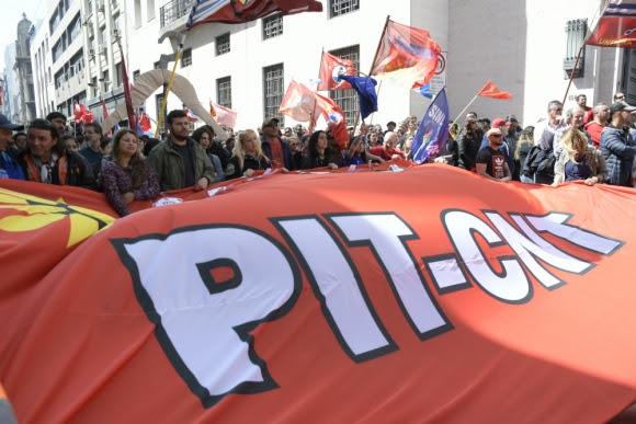El Pit-Cnt realizó un balance de lo que fue la última ronda de negociación. Foto: Leonardo Mainé.