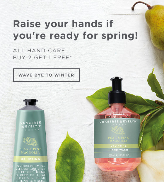 All Hand Care: Buy 2, Get 1 Free.* Raise your hand if you're ready for spring! Wave bye to winter