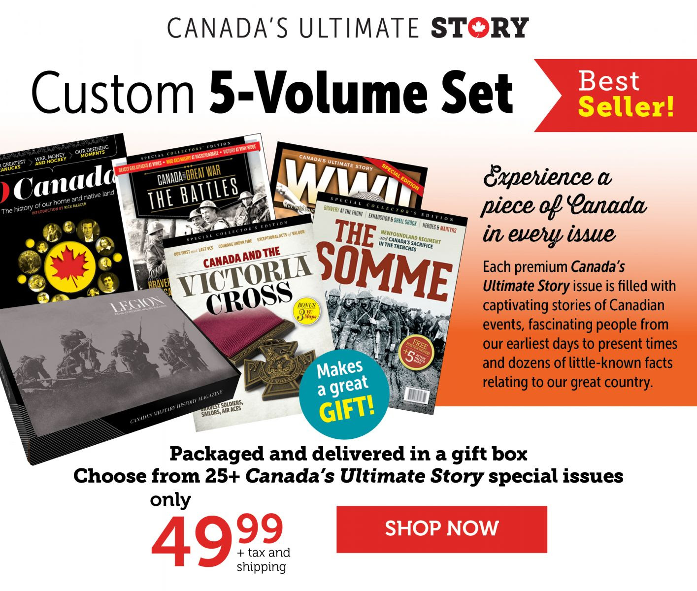 Canada's Ultimate Story - Custom 5-Volume Set