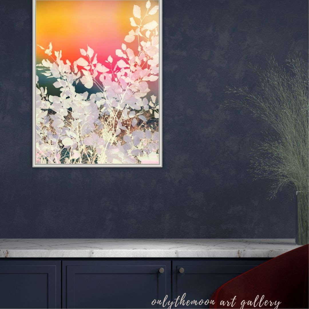Rainbow sky leafy abstract By onlythemoon living room view