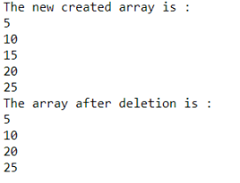 deletion-python-array
