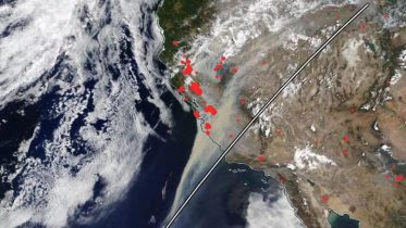MODIS California Fires August 2020