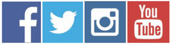 Social Media Icons (Facebook, Twitter, Instagram, YouTube)
