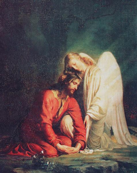 Znalezione obrazy dla zapytania jezus i anioly