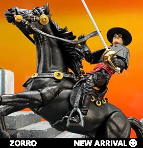 Zorro Hero H.A.C.K.S. Zorro & Tornado Figure & Steed Pack