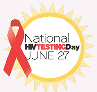 National HIV Testing Day June 27.