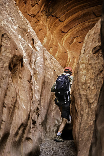 K04Mike in slot canyon