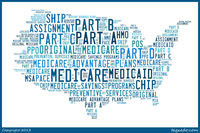 Medicare Terms that fit together to make a map of the United States