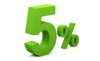 5% di sconto immediato!