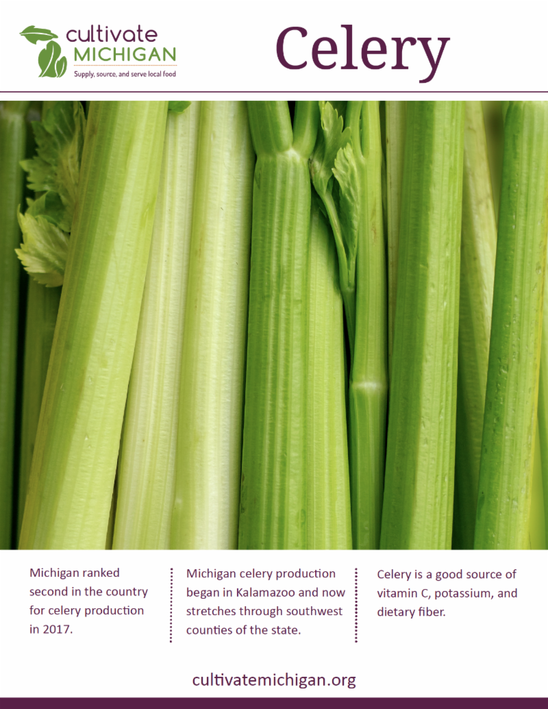Cultivate Michigan celery poster
